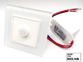 Czujnik ruchu PIR 230V komplet MFW biały