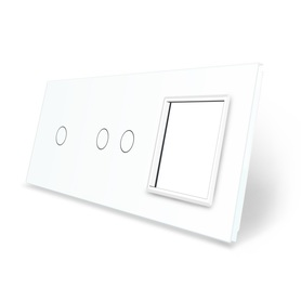 Panel szklany 1+2+G biały LIVE ON LOVE