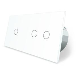 Wyłącznik dotykowy 1+2 zestaw biały WELAIK