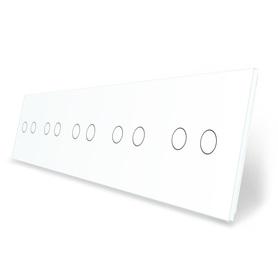 Panel szklany 2+2+2+2+2 biały WELAIK
