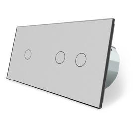 Wyłącznik dotykowy 1+2 zestaw szary