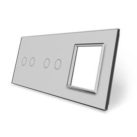 Panel szklany 2+2+G szary