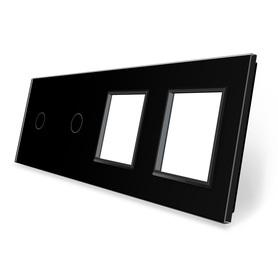 Panel szklany 1+1+G+G czarny WELAIK
