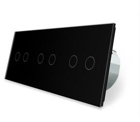 Wyłącznik dotykowy 2+2+2 zestaw czarny WELAIK
