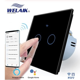 Wyłacznik dotykowy roletowy / żaluzjowy WIFI zestaw czarny WELAIK ®