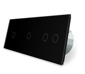 Wyłącznik dotykowy 1+1+2 zestaw czarny WELAIK