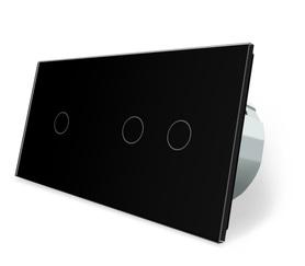 Wyłącznik dotykowy 1+2 zestaw czarny WELAIK