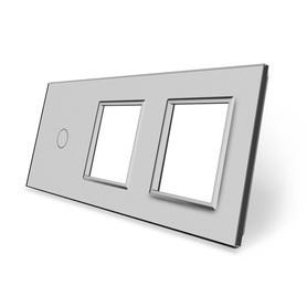 Panel szklany 1+G+G szary