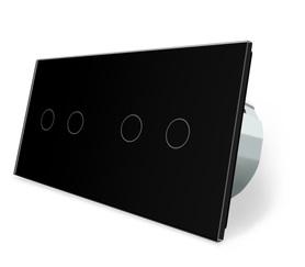 Wyłącznik dotykowy 2+2 zestaw czarny WELAIK