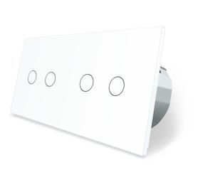 Wyłącznik dotykowy 2+2 zestaw biały WELAIK