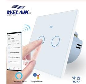 Wyłącznik dotykowy roletowy / żaluzjowy WIFI zestaw biały WELAIK ®