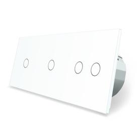 Wyłącznik dotykowy 1+1+2 zestaw biały WELAIK
