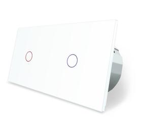 Wyłącznik dotykowy 1+1 zestaw biały
