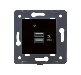 Moduł podwójnej ładowarki USB 5V 2x 2,1A MFW czarny