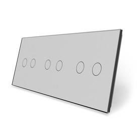 Panel szklany 2+2+2 szary