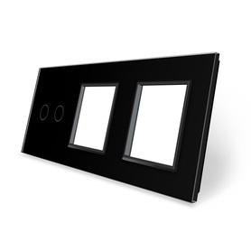 Panel szklany 2+G+G czarny