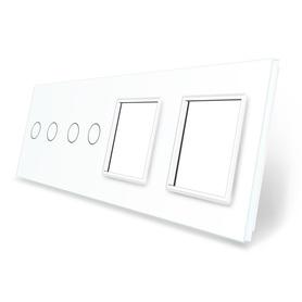 Panel szklany 2+2+G+G biały WELAIK