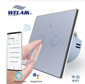 Wyłącznik dotykowy roletowy / żaluzjowy WIFI zestaw szary WELAIK ®
