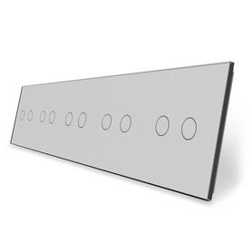 Panel szklany 2+2+2+2+2 szary