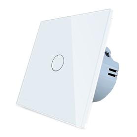 Włącznik dotykowy pojedynczy biały zestaw WELAIK