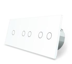 Wyłącznik dotykowy 1+2+2 zestaw biały WELAIK