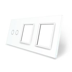 Panel szklany 2+G+G biały