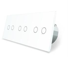 Wyłącznik dotykowy 2+2+2 zestaw biały WELAIK