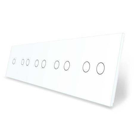 Panel szklany 1+2+2+2+2 biała do gniazdek-modułów LIVE ON LOVE