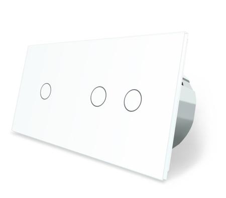 Wyłącznik dotykowy 1+2 zestaw biały WELAIK (1)
