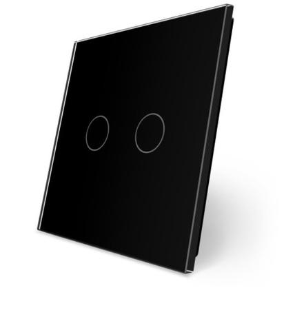 P2 Podwójny czarny panel szklany WELAIK (1)