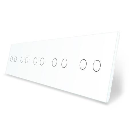 Panel szklany 2+2+2+2+2 biały WELAIK (1)
