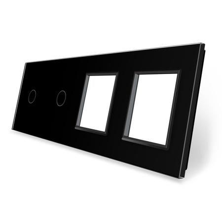 Panel szklany 1+1+G+G czarny WELAIK (1)