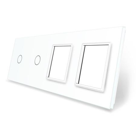 Panel szklany 1+1+G+G biały LIVE ON LOVE