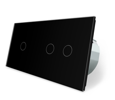 Wyłącznik dotykowy 1+2 zestaw czarny WELAIK (1)