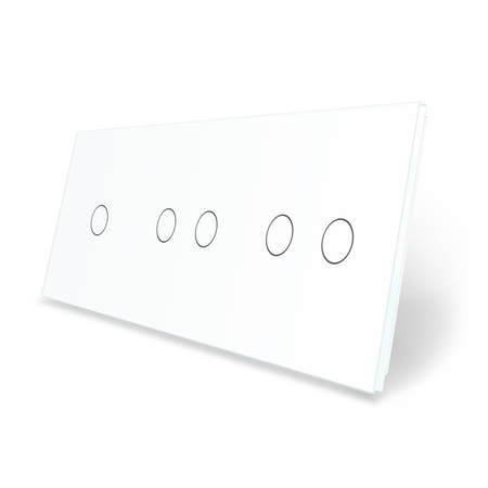 Panel szklany 1+2+2 biały LIVE ON LOVE