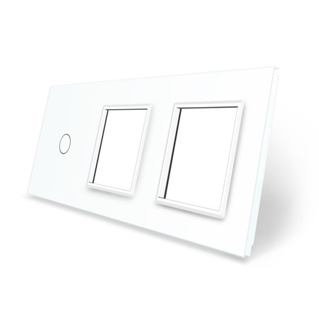 Panel szklany 1+G+G biały LIVE ON LOVE