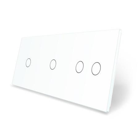 Panel szklany 1+1+2 biały LIVE ON LOVE