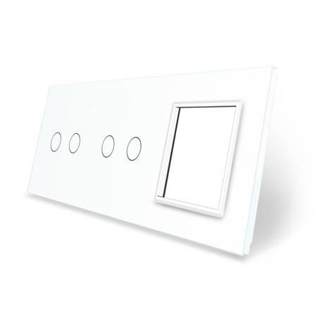 Panel szklany 2+2+G biały LIVE ON LOVE