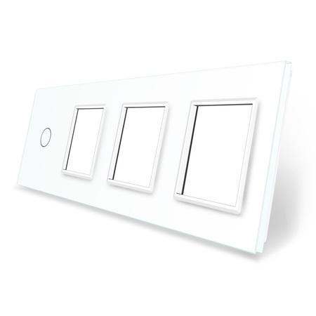 Panel szklany 1+G+G+G biały LIVE ON LOVE