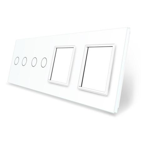 Panel szklany 2+2+G+G biały LIVE ON LOVE