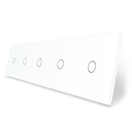 Panel szklany 1+1+1+1+1 biały LIVE ON LOVE
