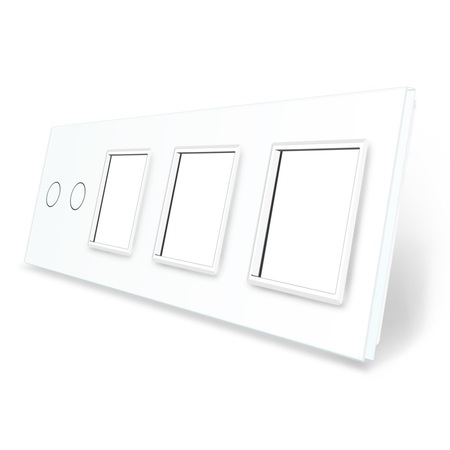 Panel szklany 2+G+G+G biały LIVE ON LOVE