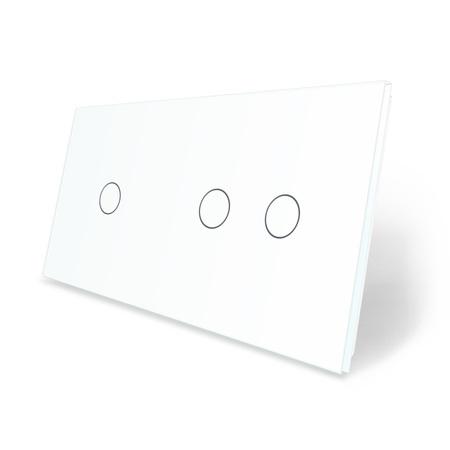 Panel szklany 1+2 biały LIVE ON LOVE