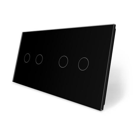 Panel szklany 2+2 czarny LIVE ON LOVE